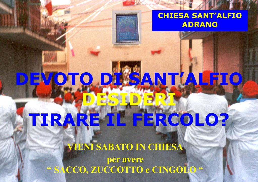 Festa Sant'Alfio 2012 Adrano Avviso tirare fercolo
