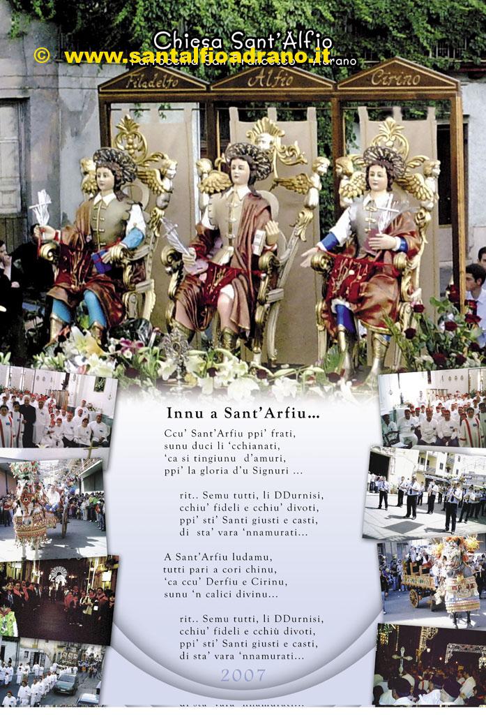 Sant'Alfio Adrano Calendario 2007
