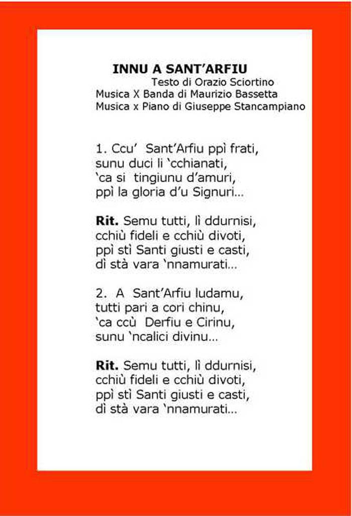 Inno a Sant'Alfio Adrano