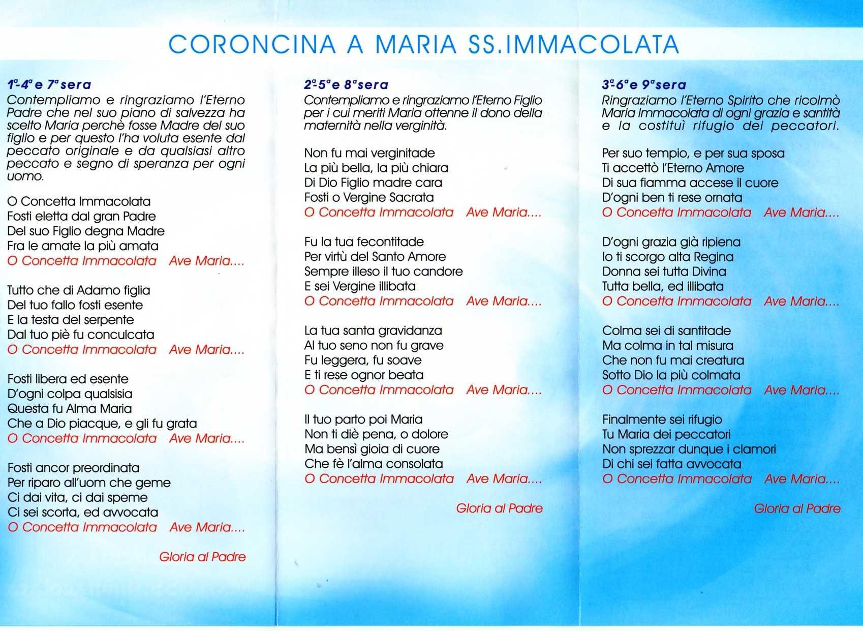 Coroncina a Maria SS. Immacolata - Adrano
