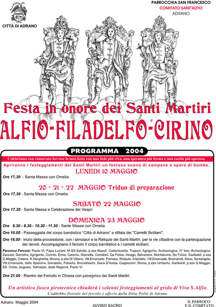 Locandina Programma 2004