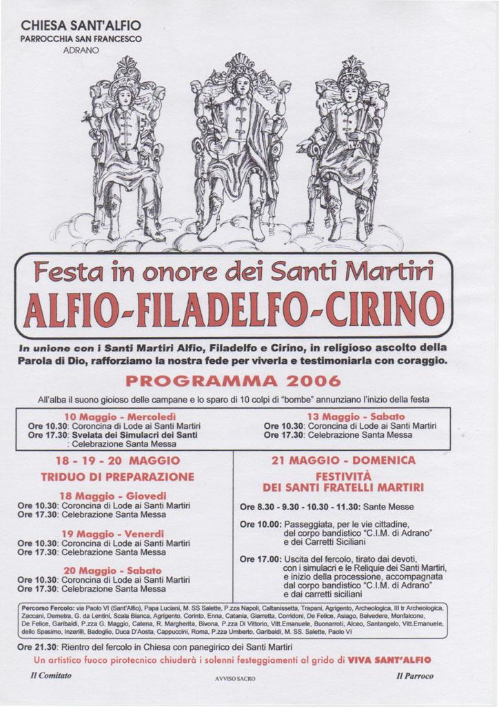 Locandina Programma 2006