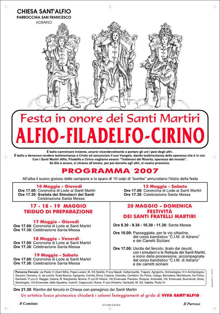 Locandina Programma 2007