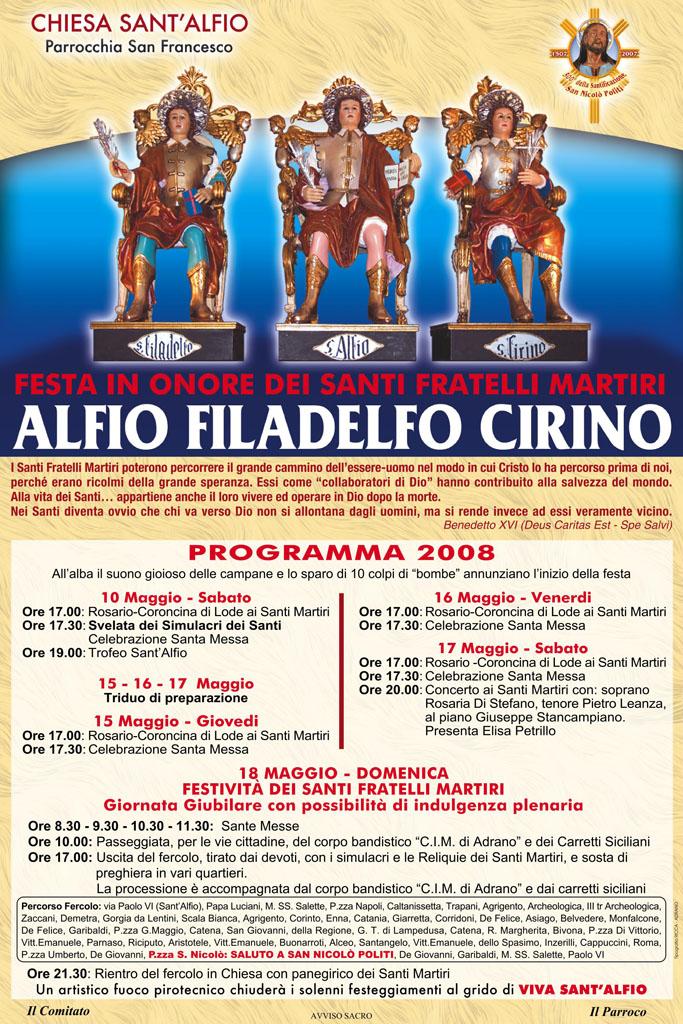 Locandina Programma 2008