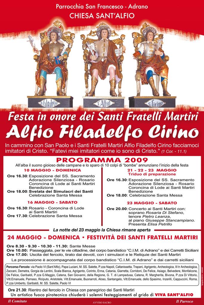 Locandina Programma 2009