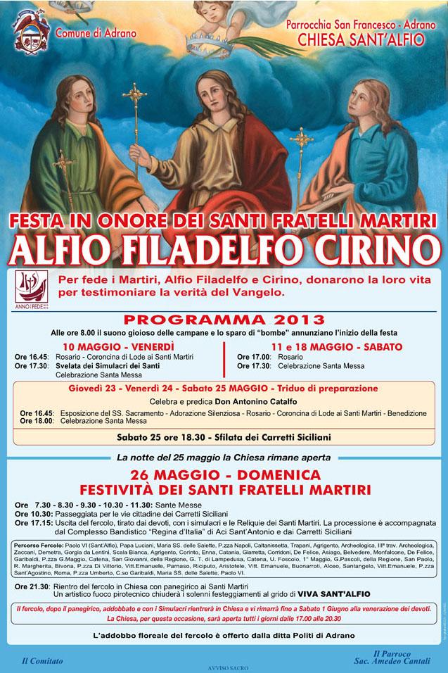 Programma 2013 Sant'Alfio Adrano