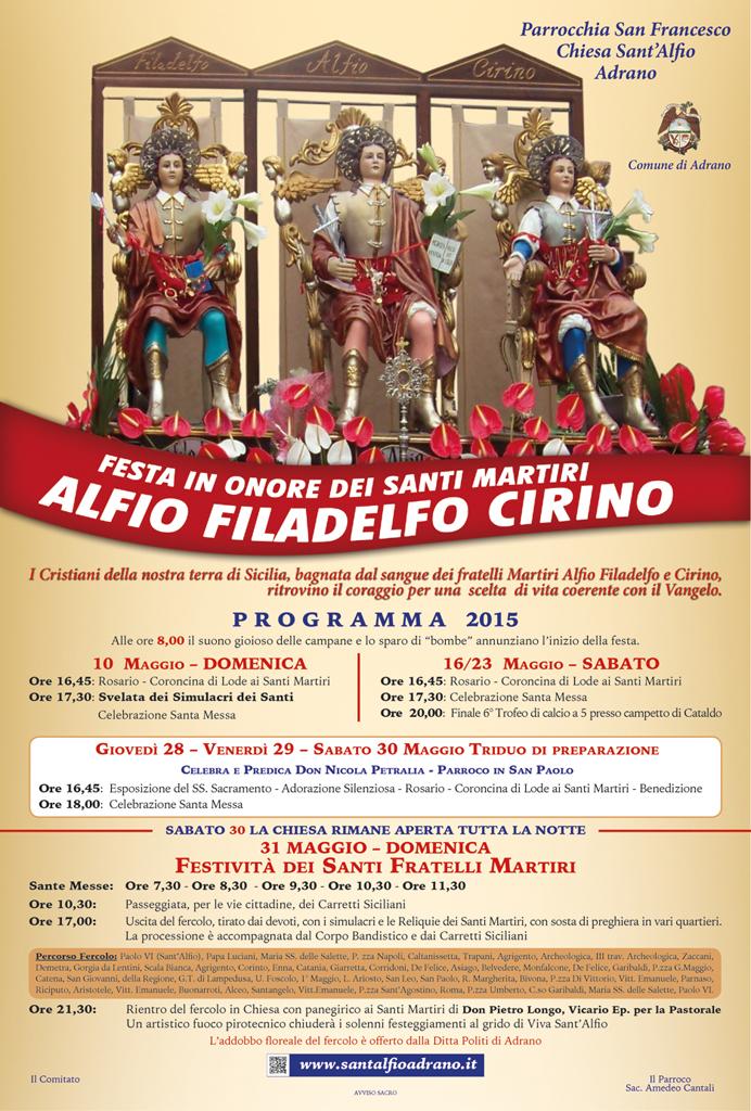 Chiesa Sant'Alfio Adrano Programma
