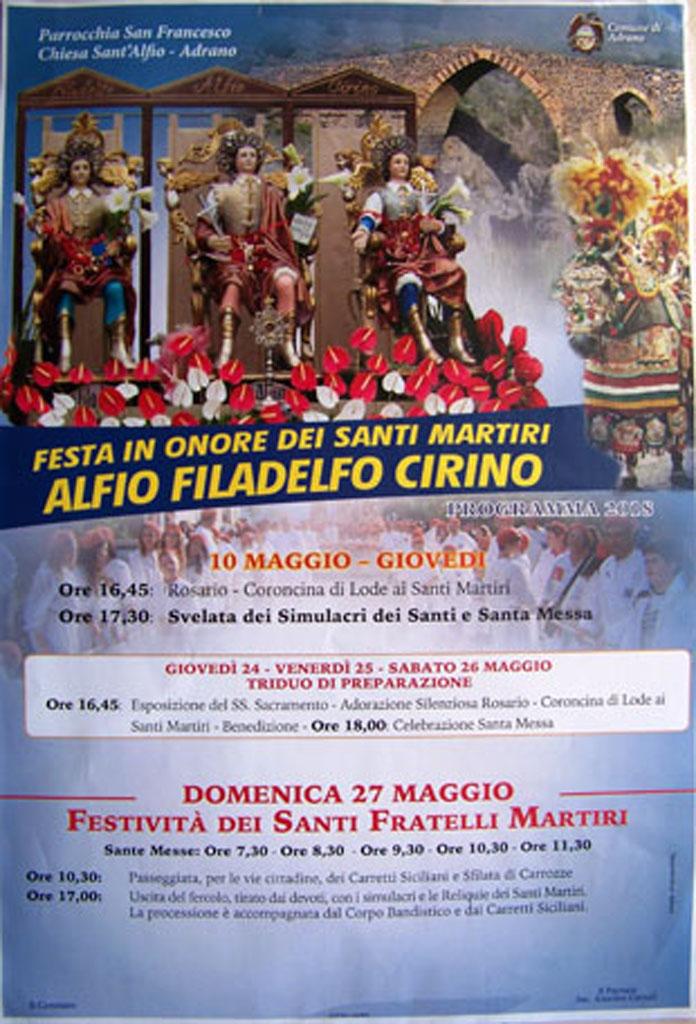 Chiesa Sant'Alfio Adrano Programma 2018