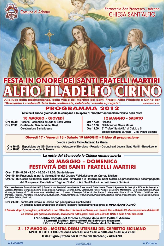 Programma Sant'alfio - Adrano 2012